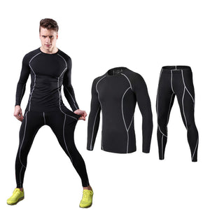 Men's quick-drying Compression 2-piece suit