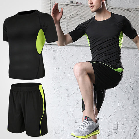 Men's quick-drying 2 piece sports suit