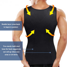 Trainer Tank with Zipper for Men Slimming Body Shaper Waist
