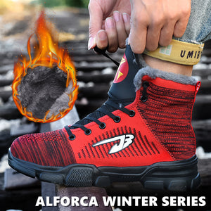 Alforca Winter Series Anti-puncture Steel Toe Thermal Plush High-top Safety Shoes