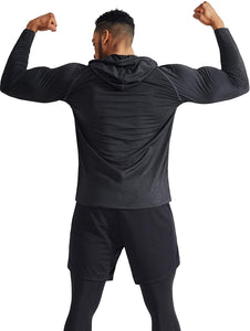 Men's Dry Fit Athletic Workout Running Shirts Long Sleeve