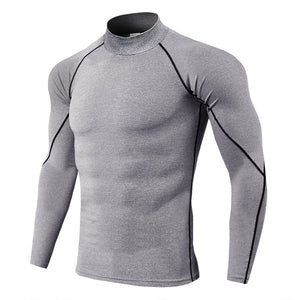 Men's Stand Collar Compression Long Sleeve
