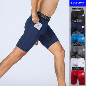 Compression Shorts with Pocket