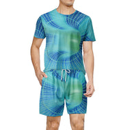 Men's short-sleeved t-shirt printing casual suit