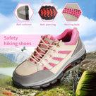 Alforca Women Lightweight Steel Toe Steel Midsole Safety Shoes