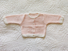 Load image into Gallery viewer, Pink Knit Newborn Cardigan White Details 6 Months