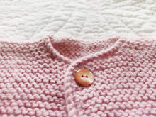 Load image into Gallery viewer, Powder Pink Knit Newborn Cardigan 1 Button