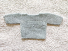 Load image into Gallery viewer, Sky Blue Buttoned Knit Newborn Cardigan