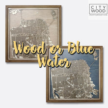 Load image into Gallery viewer, Philadelphia Wooden Map by CityWood - Custom Wood Map Art - Unique Laser Cut Maps