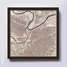 Load image into Gallery viewer, Kansas City Wooden Map