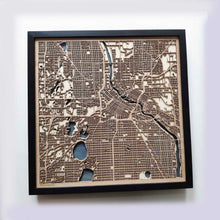Load image into Gallery viewer, Minneapolis Wooden Map