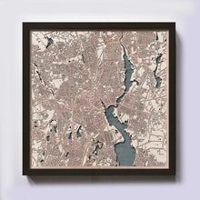 Load image into Gallery viewer, Providence Wooden Map