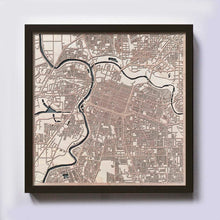 Load image into Gallery viewer, Sacramento Wood Map - Laser Cut Custom Map Streets City 3d Framed Wooden Maps Travel Wall Art - Birthday Christmas Gift Wedding Gifts