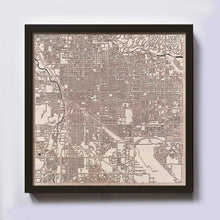 Load image into Gallery viewer, Tucson Wooden Map