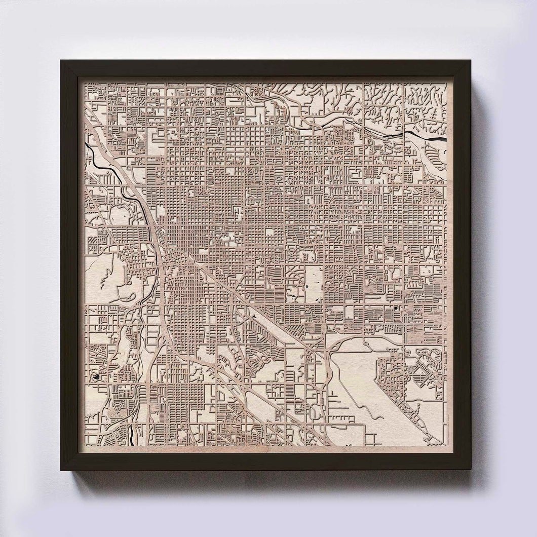 Tucson Wooden Map