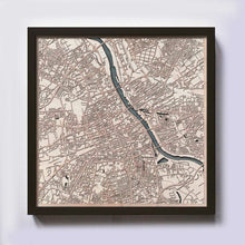 Load image into Gallery viewer, Warsaw Wood Map - Laser Cut Custom Map Streets City 3d Framed Wooden Maps Travel Wall Art - Birthday Christmas Gift Wedding Gifts