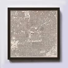 Load image into Gallery viewer, Adelaide Wooden Map