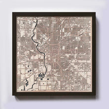 Load image into Gallery viewer, Indianapolis Wooden Map
