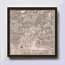 Load image into Gallery viewer, Las Vegas Wood Map - Laser Cut Custom Map Streets City 3d Framed Wooden Maps Travel Wall Art - Birthday Christmas Gift Wedding Gifts