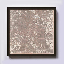 Load image into Gallery viewer, San Antonio Wooden Map