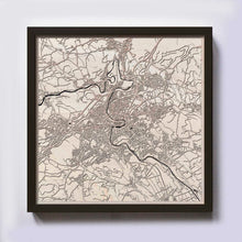 Load image into Gallery viewer, Bern Wood Map - Laser Cut Custom Map Streets City 3d Framed Wooden Maps Travel Wall Art - Birthday Christmas Gift Wedding Gifts