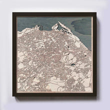 Load image into Gallery viewer, Edinburgh Wood Map - Laser Cut Custom Map Streets City 3d Framed Wooden Maps Travel Wall Art - Birthday Christmas Gift Wedding Gifts