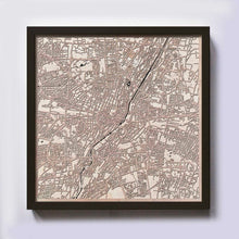 Load image into Gallery viewer, Munich Wooden Map by CityWood - Custom Wood Map Art - Unique Laser Cut Maps