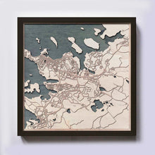 Load image into Gallery viewer, Reykjavik Wooden Map