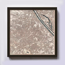 Load image into Gallery viewer, Vienna Wooden Map