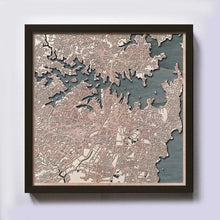 Load image into Gallery viewer, Sydney Wooden Map