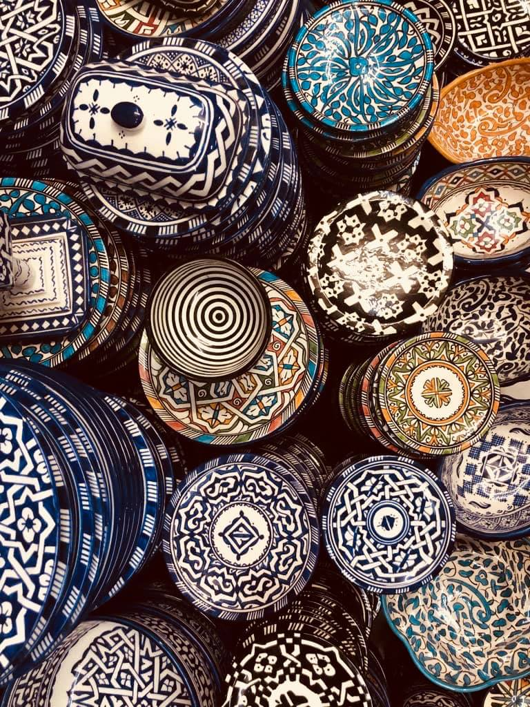 shopping for pottery in marrakesh