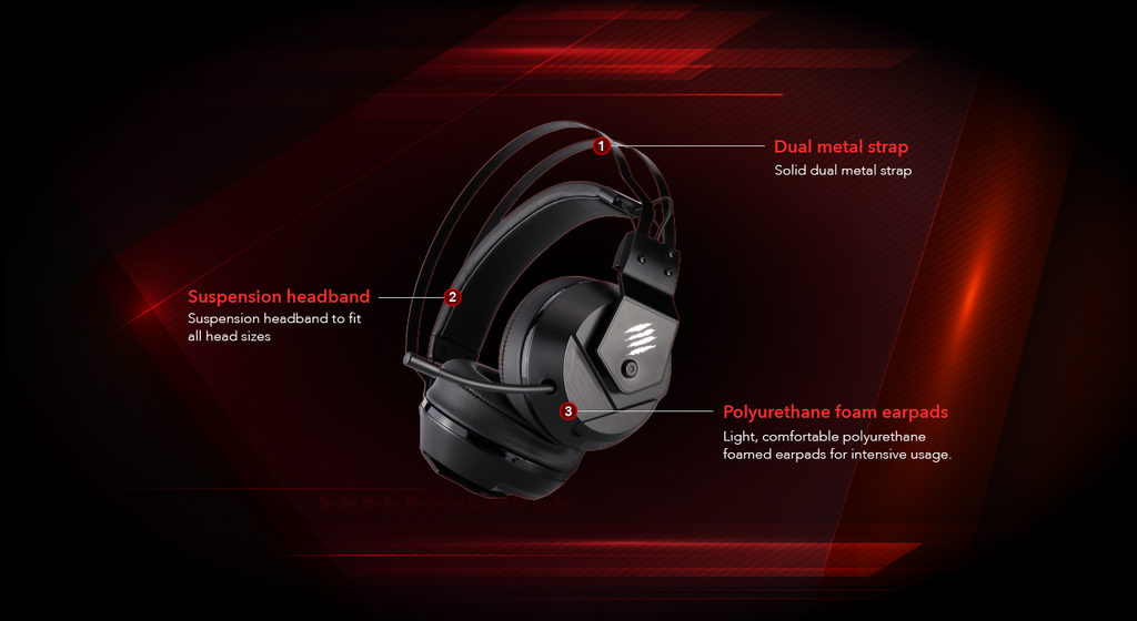 Mad Catz FREQ 2 Stereo Gaming Headset BUILT TO WIN Black dele nordic gaming nordic
