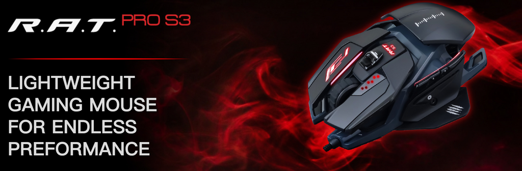 Mad Catz The Authentic R.A.T. Pro S3 Optical Gaming Mouse dele nordic Finland gaming, BLACK