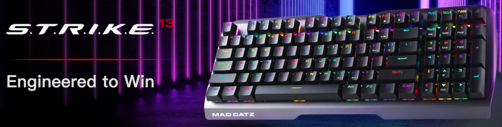 Mad Catz The Authentic STRIKE 13 Mechanical Gaming Keyboard Black dele nordic Finland gaming