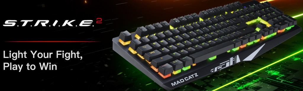 Mad Catz The Authentic STRIKE 2 Mechanical Gaming Keyboard dele nordic- Black