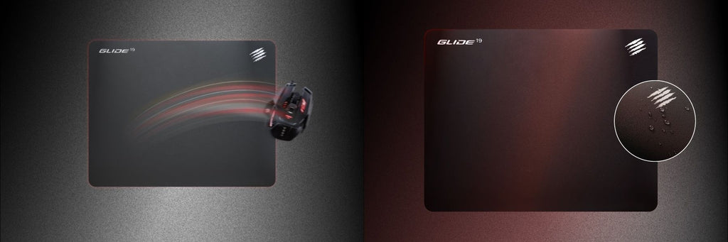 Mad Catz The authentic GLIDE 19 gaming surface mouse pad WATER-REPELLENT FOR EASY CLEANING dele nordic Finland gaming