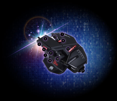 mad catz rat6 gaming mouse 11 PROGRAMMABLE BUTTONS dele nordic gaming finland