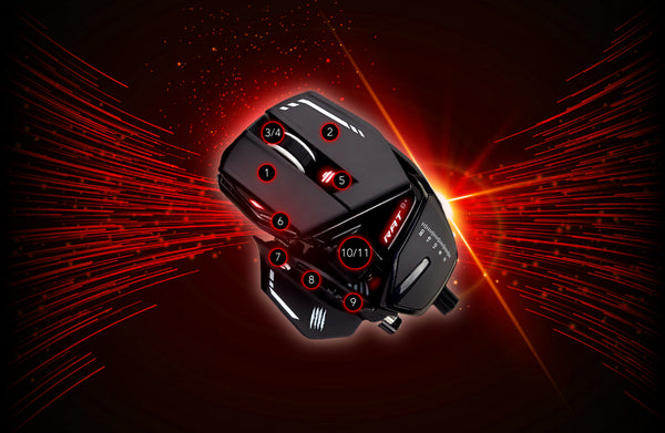 mad catz rat8 11 PROGRAMMABLE BUTTONS dele nordic gaming finland