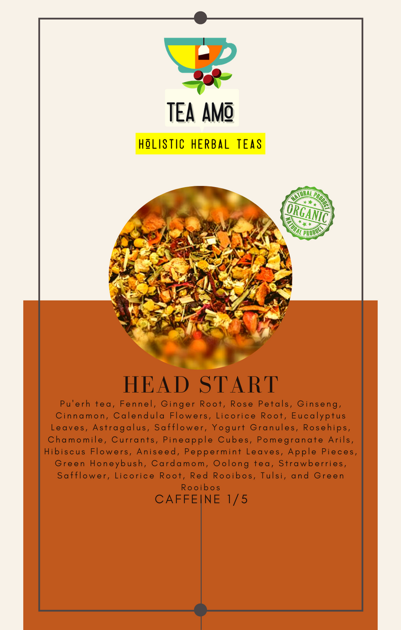 Tea Amo Wellness: Head Start (Organic) Tea