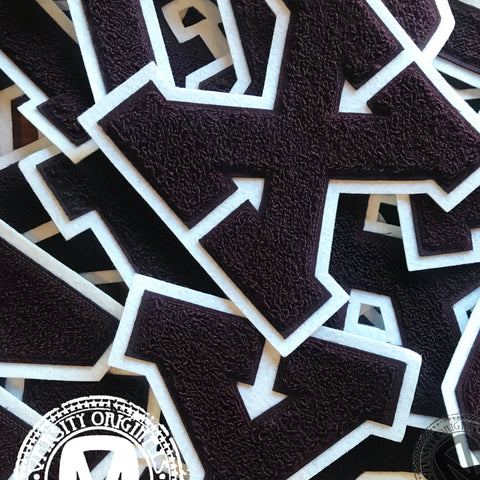 "Maroon 6"" Chenille Varsity Letter Patches"