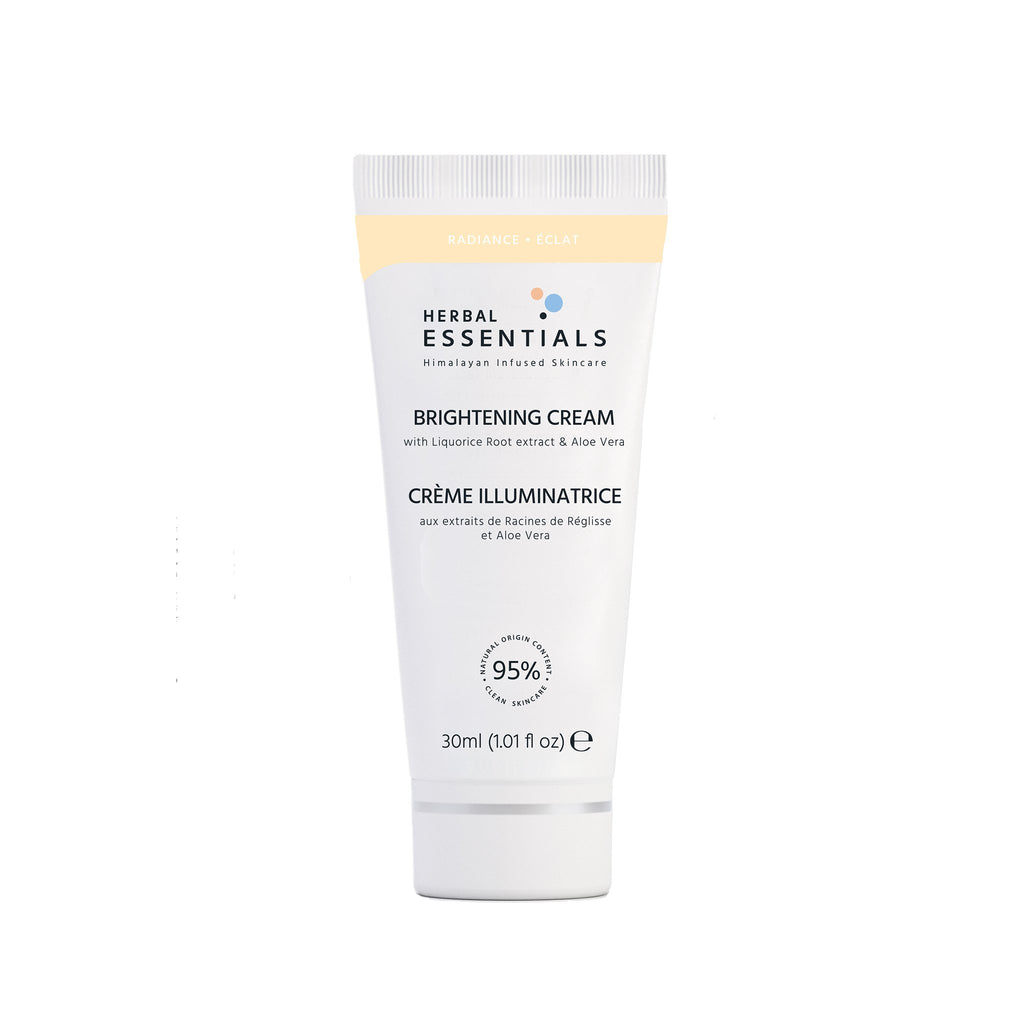 Herbal Essentials Skincare Brightening Cream Moisturiser with Liquorice Root extract & Aloe Vera30ml