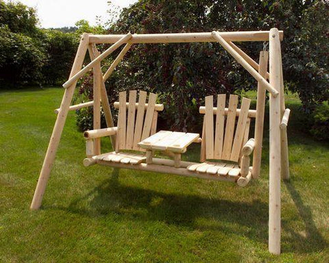 Tete-a-Tete Swing A-Frame by Moon Valley Rustic Furniture