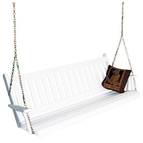 Yellow Pine Traditional English Style Porch Swing by A & L Furniture