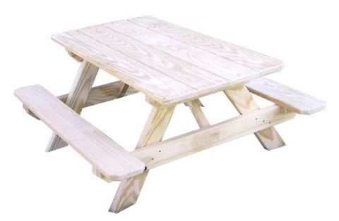Pressure Treated Pine Kids Picnic Table by A & L Furniture