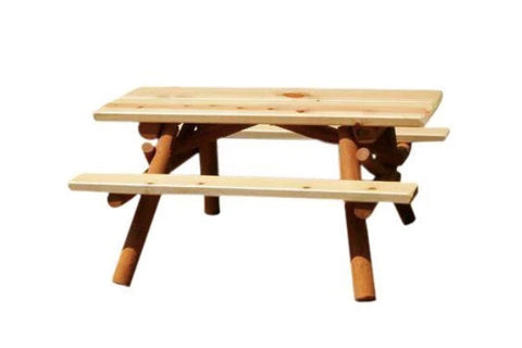 Rustic Nicholas Kids Picnic Table by Moon Valley Rustic Furniture