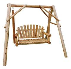 Outdoor Lawn Swing A-Frame by Moon Valley Rustic Furniture