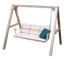 Cedar Royal Country Hearts Porch Swing with Stand by Creekvine Designs