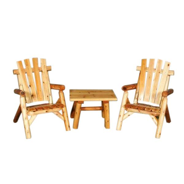 "2 Classic Lawn Chairs and 28"" End Table Set"