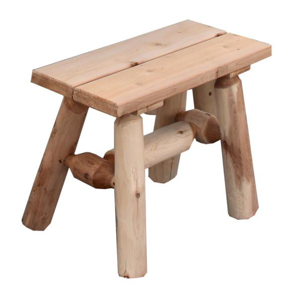 Cedar Log 23 inch End Bench - pr.