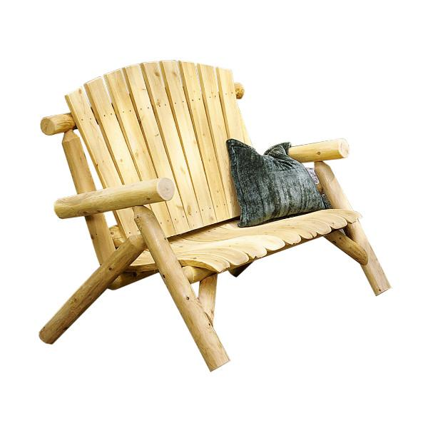 Cedar Log 4 ft Love Seat